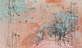 Hintergrund in der Technik von Scrapbooking in der multi farbigen Tonne Stockbild