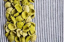 Hintergrund der trockenen Teigwaren Stockfoto