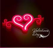 Hintergrund der Valentinsgrüße 3d Tages Stockfotos