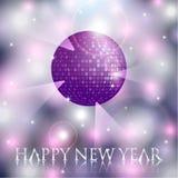 Hintergrund der Vektor-neuen Jahre mit Discoball Stockbild