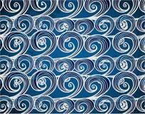 Hintergrund der von Hand gezeichnet Seewellen Lizenzfreie Stockfotografie