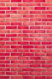 Hintergrund der Wandbeschaffenheit des roten Backsteins Stockbild