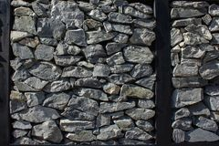 Hintergrund der weißen Steinwand Stockfoto