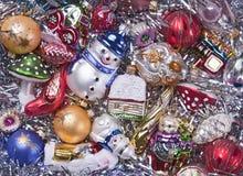 Hintergrund der Weihnachtsdekorationen Stockfoto