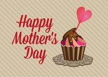 Hintergrund der Weinlese-glücklicher Mütter Tages Stockfoto