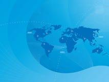 Hintergrund der Weltkarte Lizenzfreie Stockfotografie