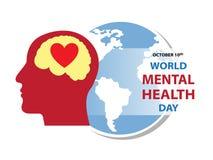 Hintergrund der Weltpsychischen gesundheit Tages lizenzfreie stockfotos
