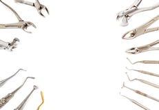 Hintergrund der zahnmedizinischen Ausrüstung Lizenzfreies Stockfoto