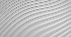 Hintergrund der Zusammenfassungs-3D von Grey White Curve Lines, Illustration Lizenzfreies Stockfoto