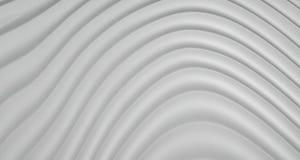 Hintergrund der Zusammenfassungs-3D von Grey White Curve Lines, Illustration Stockfotografie