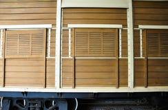 Hintergrund des Äußeren des Bahnwagens lizenzfreies stockbild