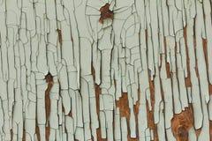 Hintergrund des alten Brettes mit gebrochener Farbe Lizenzfreie Stockfotografie