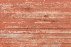 Hintergrund des alten hölzernen Brettes mit gebrochener roter Farbe Lizenzfreie Stockfotografie