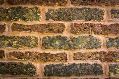 Hintergrund des alten Weinleseziegelsteinhintergrundes Stockfoto