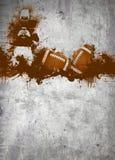 Hintergrund des amerikanischen Fußballs Stockfotos