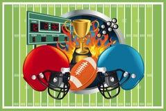 Hintergrund des amerikanischen Fußballs Stockbilder