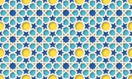 Hintergrund des Arabisch 3d Islamisches geometrisches Muster stock abbildung