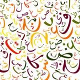 Hintergrund des arabischen Alphabetes Lizenzfreie Stockfotografie