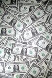 Hintergrund des Bargeldes $1 Stockbilder