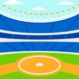 Hintergrund des Baseballstadions Stockfotos