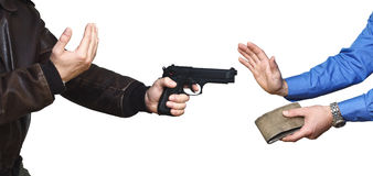 Hintergrund des bewaffneten Überfalls Lizenzfreie Stockbilder