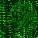 Hintergrund des binären Code-3D Lizenzfreie Stockfotos