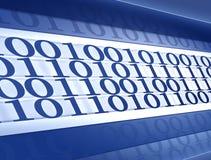 Hintergrund des binären Codes Stockbilder