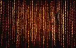 Hintergrund des binären Codes Stockfotografie