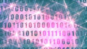 Hintergrund des binären Codes lizenzfreie abbildung
