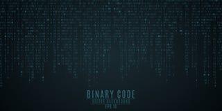 Hintergrund des binären Codes Blaues Glühen Fallende Zahlen Globales Netzwerk Hochtechnologien, programmierend, Sciencefiction Au Lizenzfreie Stockbilder