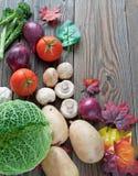 Hintergrund des biologischen Lebensmittels Stockbild