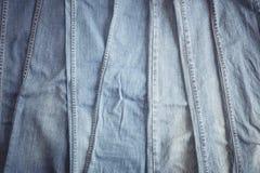 Hintergrund des blauen Baumwollstoffs Lizenzfreie Stockfotografie