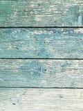 Hintergrund des blauen gemalten Holzes mit horizontalen Streifen lizenzfreie stockbilder