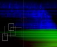 Hintergrund des blauen Grüns mit Feldern stock abbildung