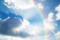 Hintergrund des blauen Himmels Stockbild