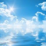 Hintergrund des blauen Himmels vektor abbildung