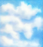 Hintergrund des blauen Himmels des Aquarells Lizenzfreies Stockfoto