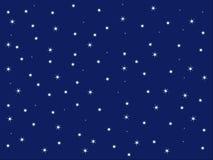 Hintergrund des blauen Himmels und der Sterne Lizenzfreies Stockfoto
