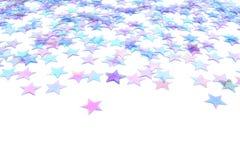 Hintergrund des blauen Sternes Stockfotografie