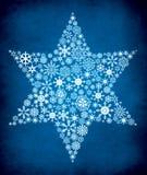 Hintergrund des blauen Sternes. vektor abbildung