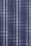 Hintergrund des blauen und weißen Plaid-Stoffes Lizenzfreie Stockbilder