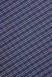 Hintergrund des blauen und weißen Plaid-Stoffes Lizenzfreies Stockfoto