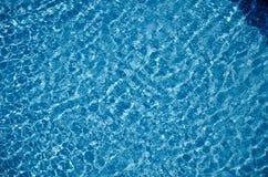 Hintergrund des blauen Wassers Lizenzfreies Stockfoto