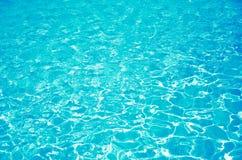 Hintergrund des blauen Wassers Stockbild