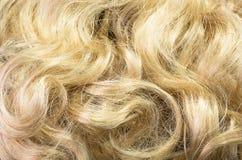 Hintergrund des blonden Haares Stockfotos
