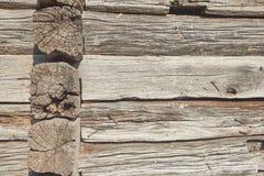 Hintergrund des braunen alten Holzes mit rostigen Nägeln Lizenzfreie Stockbilder