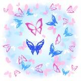 Hintergrund des bunten Schmetterlingsfliegens Lizenzfreie Stockbilder