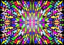 Hintergrund des Buntglases, des Mosaiks oder des Kaleidoskops Lizenzfreie Stockbilder