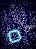 Hintergrund des Digitalschaltungsbrettes Stockbild
