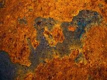 Hintergrund des Eisens rostig Stockbilder